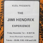 Jimi Hendrix concert ad