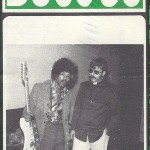 "Jimi posed backstage with morning DJ ""Humble"" Harry Miller from concert sponsor KUDL-AM."