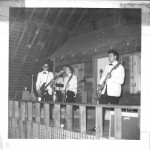 Roger Calkins (center) and the Fabulous Silver Tones at the original Soc Hop.