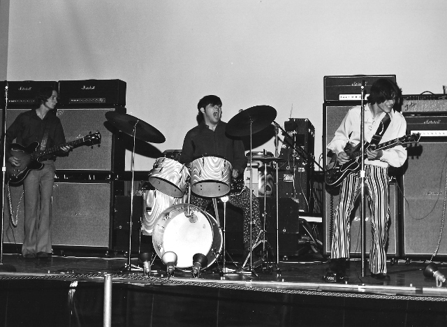 Greg Whitfield, (from left) Ken Mairs and Allen Blasco of Stone Wall at the Fun Fair, Municipal Auditorium, June 1969.